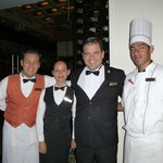 The team at Bordeaux - excellent service and cuisine