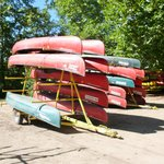 Canoes on tailers