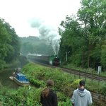 Train Leaving Consall - from the Black Lion