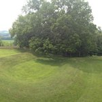 Panoramic View Serpent Mound August 2014