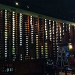 Palm Tree Grille wall of 410 bottles of wine!