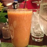 homemade peach smoothie