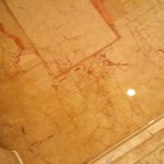 Dirty flooring with no proper water seepage