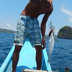 Catch of the Day by the boat captain during one of our snorkelling trips..