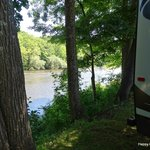 campsite off river