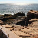 the stairs leading to Thunder Hole (surprisingly empty)