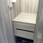 drawers and safebox in wardrobe