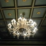 Gorgeous lobby ceiling & grand light