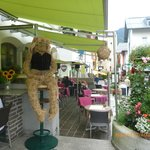 Covered outdoor Cafe area.