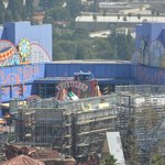 Harry Potter World being built in foreground (due to open 2016)