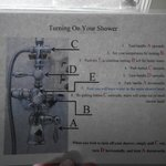 Shower directions
