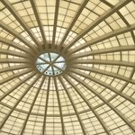 beautiful ceiling at the pool area