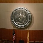 State seal in one of the chambers.