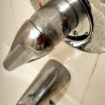 Dirty faucets in the bathroom!