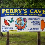 Sign Along Road for Perry's Cave