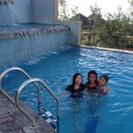 at the pool area