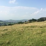 View out to Stroud & the Severn from the common