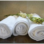 Bathroom towelling is luxurious and soft