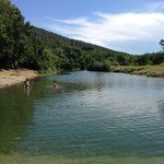 Swimming in the river in Lagrasse