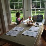 Coloring station & learning about the wetlands