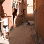 Outside the Riad Front Door