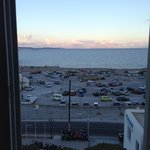 "This is the view from our ""sea view suite""...it was overlooking a parking lot!"