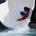 Our son going down the 60 foor waterslide