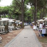 The little avenue of tents and caravans
