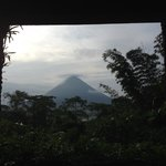 Beautiful view of the Arenal Volcano from our room.