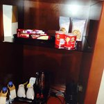 In room snacks and facilities