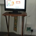 tv on a wobbly table