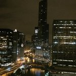 Room view, 29th floor, Chicago River and Trump Tower