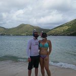 On Pinel Island with St Maarten (Cul de Sac bay) in the background!