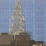 Chrysler Building Reflected, from our room,