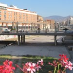 view from bridge outside Malaga Centro Alameda station