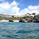 View of hotel from Kayak