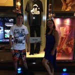 With Slash's outfit from Guns n' Roses tour to Tokyo