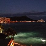 Nightime view of Diamond Head...so beautiful!
