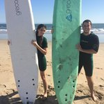 Successful surfing lessons!