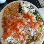 Lucy's Enchilada plate