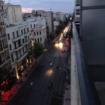 Downward view of the street (Omonia)