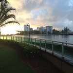 Sunrise overlooking the Condado Lagoon