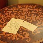 Desk with Tiana's Welcome Letter