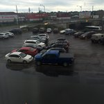Noise from busy railway and road as well as flooded car park