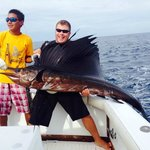 First sailfish of the day!