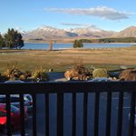 View from our second storey room - Lake Tekapo Scenic Resort.
