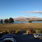 View from our second storey room ( also included heritage church) - Lake Tekapo Scenic Resort.