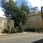 Crockett Hotel is opposite the Alamo