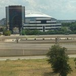 A view of Cowboy's Stadium from our room...we LOVED it!