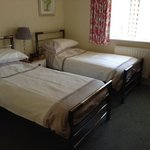 the twin bedded room